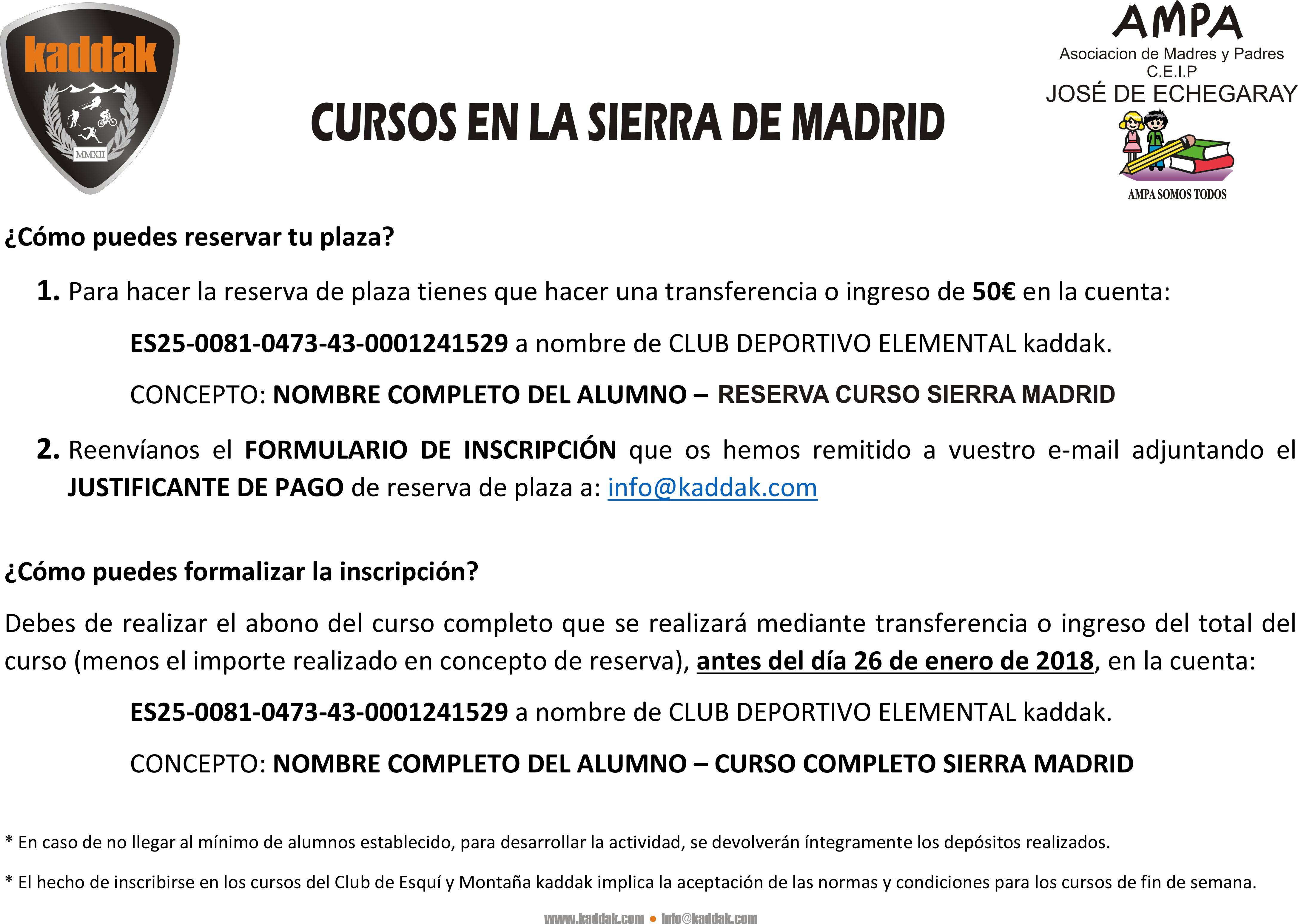 Cursos en la sierra de madrid for Curso de escaparatismo madrid